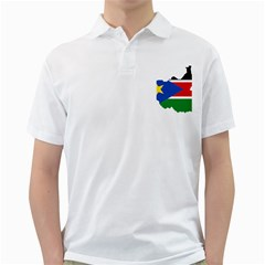 South Sudan Flag Map Geography Golf Shirt