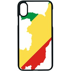 Congo Flag Map Geography Outline Iphone Xs Seamless Case (black) by Sapixe