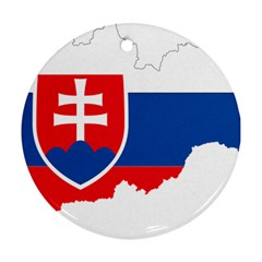 Slovakia Country Europe Flag Round Ornament (two Sides)