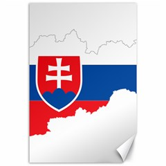 Slovakia Country Europe Flag Canvas 24  X 36  by Sapixe