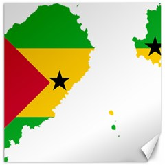 Sao Tome Principe Flag Map Canvas 20  X 20  by Sapixe