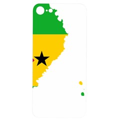 Sao Tome Principe Flag Map Iphone 7/8 Soft Bumper Uv Case by Sapixe