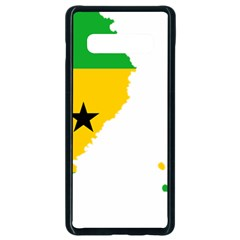 Sao Tome Principe Flag Map Samsung Galaxy S10 Plus Seamless Case (black) by Sapixe