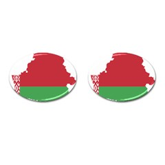 Belarus Country Europe Flag Cufflinks (oval) by Sapixe