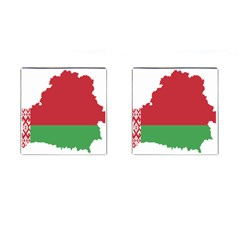 Belarus Country Europe Flag Cufflinks (square) by Sapixe