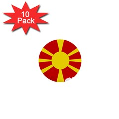 Macedonia Country Europe Flag 1  Mini Buttons (10 Pack)  by Sapixe