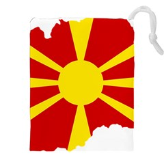 Macedonia Country Europe Flag Drawstring Pouch (xxl) by Sapixe