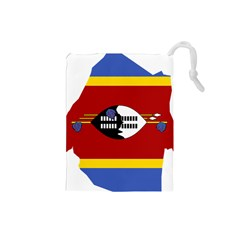 Swaziland Flag Map Geography Drawstring Pouch (small)