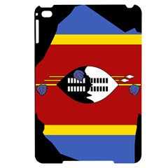 Swaziland Flag Map Geography Apple Ipad Mini 4 Black Uv Print Case by Sapixe