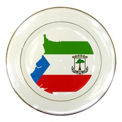 Equatorial Guinea Flag Map Porcelain Plates