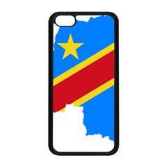 Democratic Republic Of The Congo Flag Iphone 5c Seamless Case (black) by Sapixe