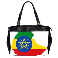 Ethiopia Flag Map Geography Oversize Office Handbag (2 Sides)