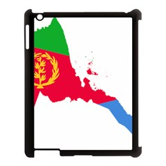 Eritrea Flag Map Geography Outline Apple Ipad 3/4 Case (black)