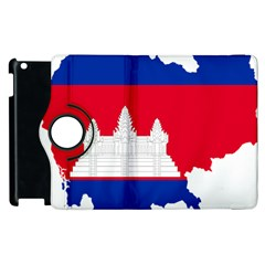 Borders Country Flag Geography Map Apple Ipad 3/4 Flip 360 Case