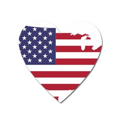 America Art Borders Cartography Heart Magnet by Sapixe
