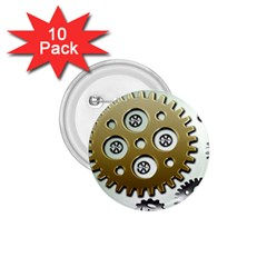 Gear Background Sprocket 1 75  Buttons (10 Pack)