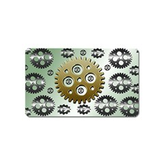 Gear Background Sprocket Magnet (name Card) by HermanTelo