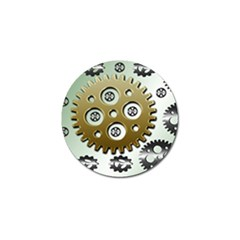 Gear Background Sprocket Golf Ball Marker