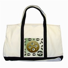 Gear Background Sprocket Two Tone Tote Bag