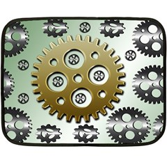 Gear Background Sprocket Fleece Blanket (mini)