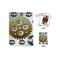 Gear Background Sprocket Playing Cards Single Design (mini)
