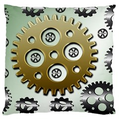 Gear Background Sprocket Large Cushion Case (two Sides)