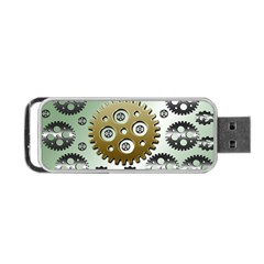 Gear Background Sprocket Portable Usb Flash (two Sides)