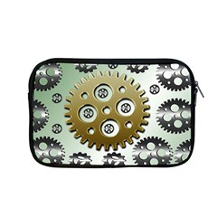 Gear Background Sprocket Apple Macbook Pro 13  Zipper Case
