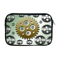Gear Background Sprocket Apple Macbook Pro 17  Zipper Case by HermanTelo
