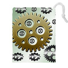 Gear Background Sprocket Drawstring Pouch (xxxl)