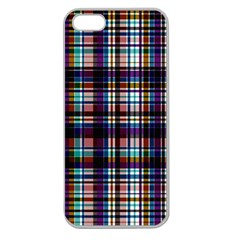 Textile Fabric Pictures Pattern Apple Seamless Iphone 5 Case (clear)