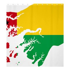 Guinea Bissau Flag Map Geography Shower Curtain 66  X 72  (large)