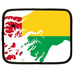 Guinea Bissau Flag Map Geography Netbook Case (xl)