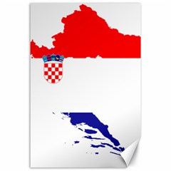 Croatia Country Europe Flag Canvas 24  X 36  by Sapixe