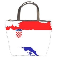 Croatia Country Europe Flag Bucket Bag by Sapixe