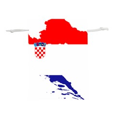 Croatia Country Europe Flag Lightweight Drawstring Pouch (m)