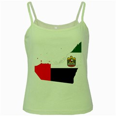 Borders Country Flag Geography Map Green Spaghetti Tank by Sapixe