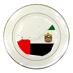 Borders Country Flag Geography Map Porcelain Plates