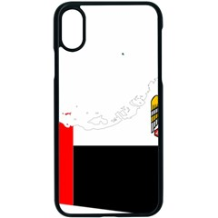Borders Country Flag Geography Map Iphone Xs Seamless Case (black)