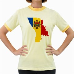 Moldova Country Europe Flag Women s Fitted Ringer T Shirt
