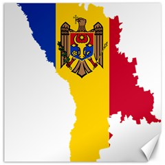 Moldova Country Europe Flag Canvas 20  X 20