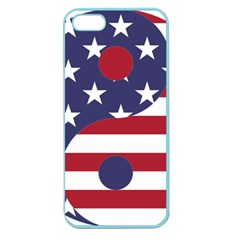 Yang Yin America Flag Abstract Apple Seamless Iphone 5 Case (color)