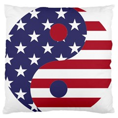 Yang Yin America Flag Abstract Standard Flano Cushion Case (two Sides) by Sapixe