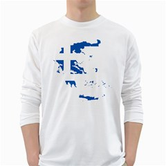 Greece Country Europe Flag Borders Long Sleeve T-shirt