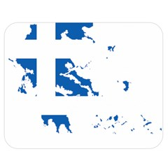 Greece Country Europe Flag Borders Double Sided Flano Blanket (medium)  by Sapixe