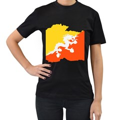 Borders Country Flag Geography Map Women s T Shirt (black) (two Sided)