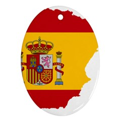 Spain Country Europe Flag Borders Ornament (oval)