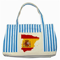 Spain Country Europe Flag Borders Striped Blue Tote Bag