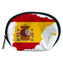 Spain Country Europe Flag Borders Accessory Pouch (medium)