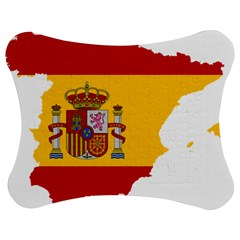 Spain Country Europe Flag Borders Jigsaw Puzzle Photo Stand (bow)
